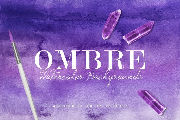 Beautiful Ombre Watercolor Backgrounds