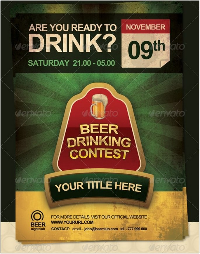 Beer Drinking Contest Flyer