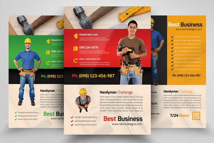Best Handyman & Plumber Services Flyer