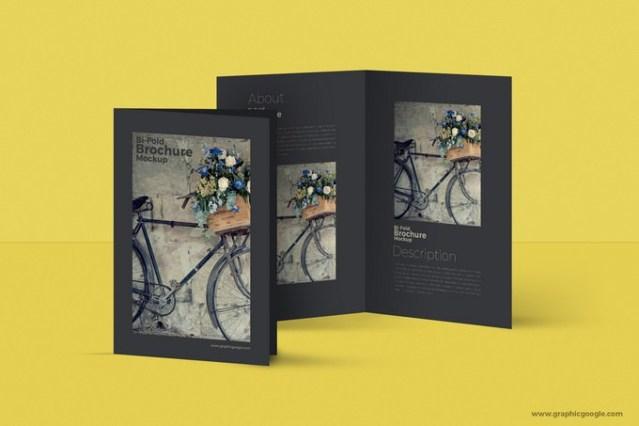 Bi-Fold A4 Brochure MockUp Free