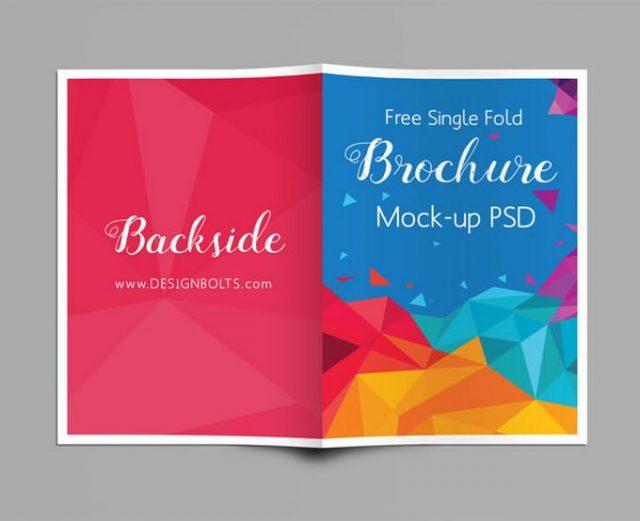 Bi-Fold A4 Brochure Mockup PSD