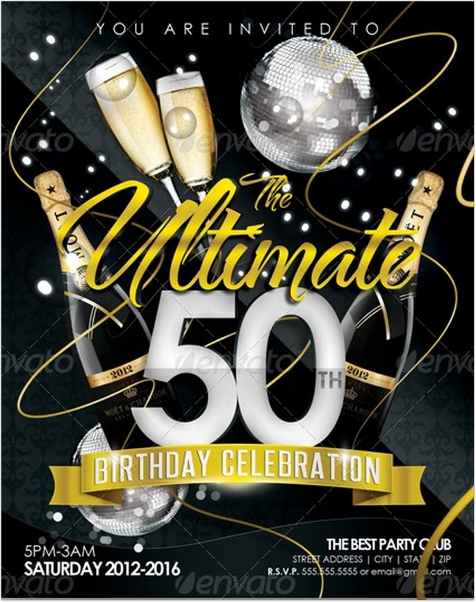 15+ Best Golden Birthday Flyer Templates – 2018 - Templatefor