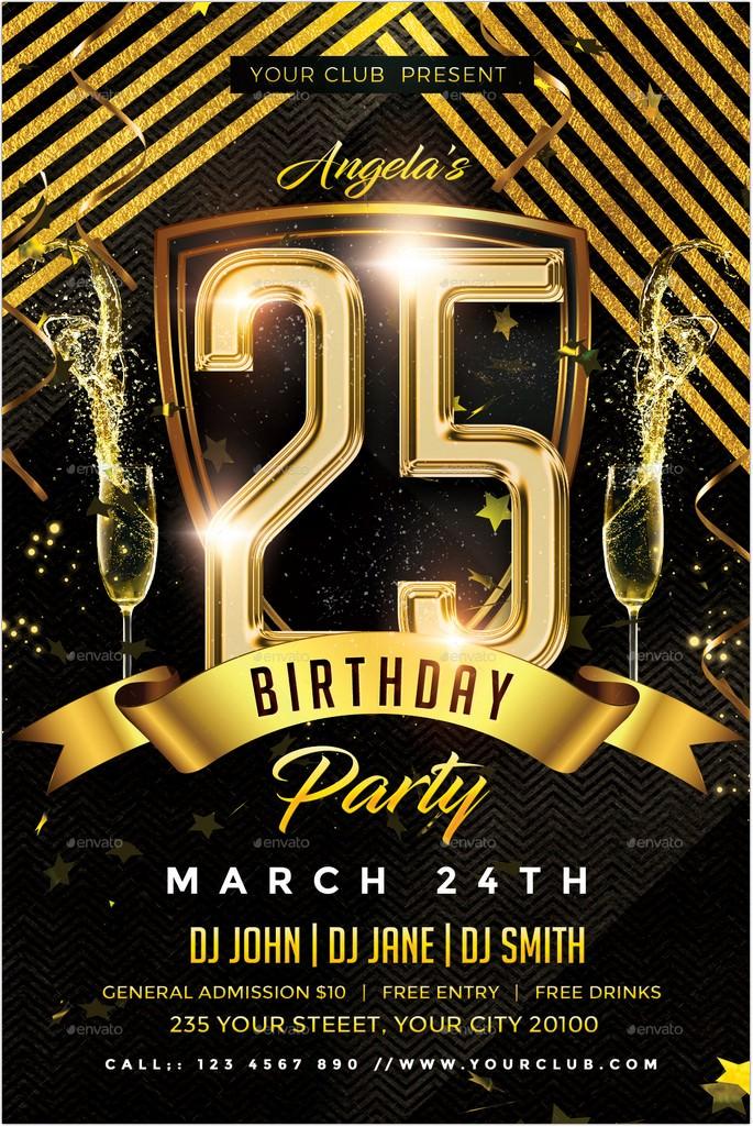 15  best golden birthday flyer templates  u2013 2018
