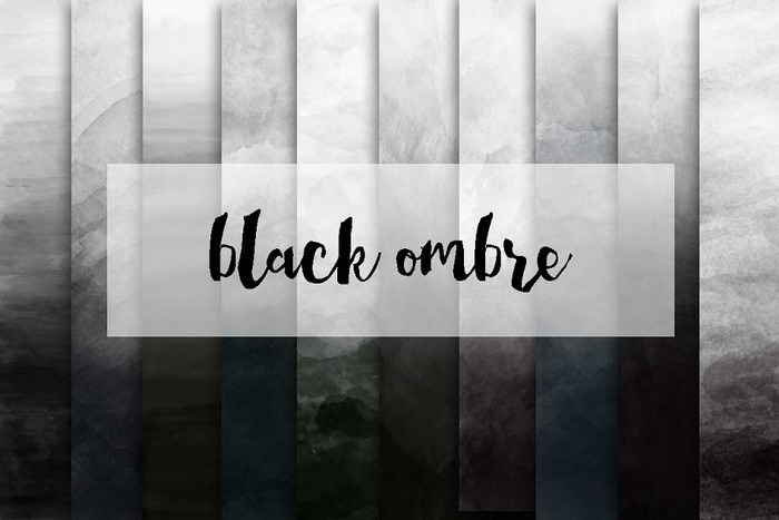 Black ombre Watercolor Backgrounds