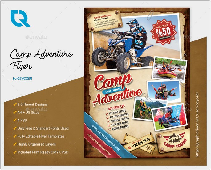 Camping Adventure Flyer # 2