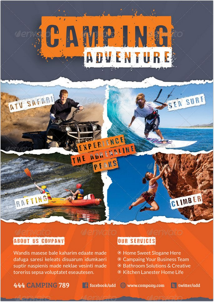 Camping Adventure Flyer Template # 2