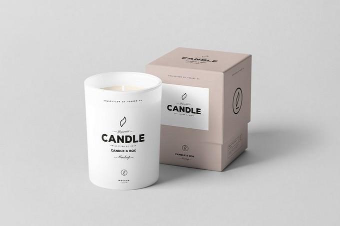 Candle & Box PSD Mockup