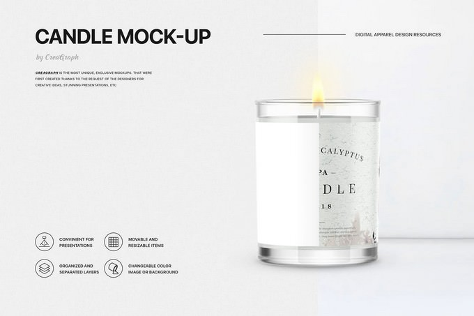 Candle Mock-up PSD