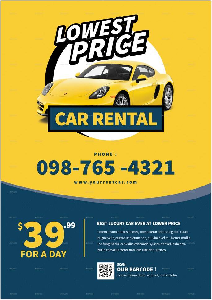 Car Rental Flyer 3