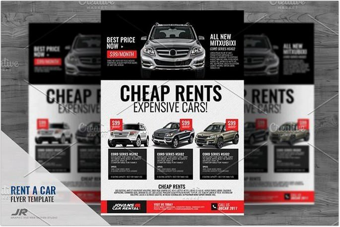 25 Best Car Rental Flyer Templates Psd Ai Format 2019 Templatefor