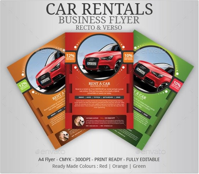 Car Rentals Business Flyer
