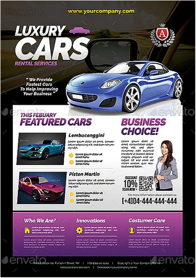 Car Sales Rental Flyer