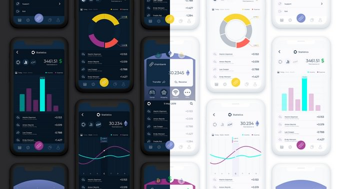 Chain Bank Cryptocurrency Mobile App - UI/UX Design