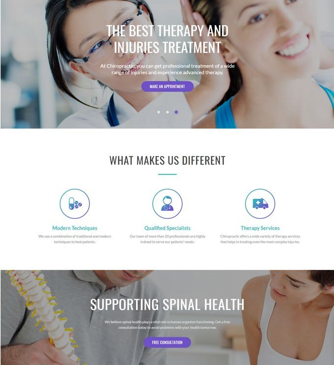 Chiropractic - Alternative Medicine Website Template