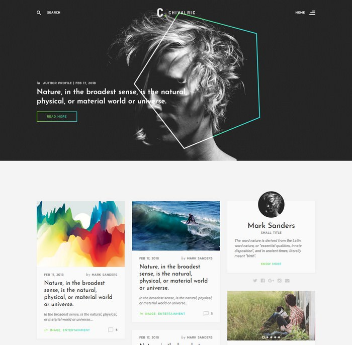 Chivalric Bootstrap Blog Template
