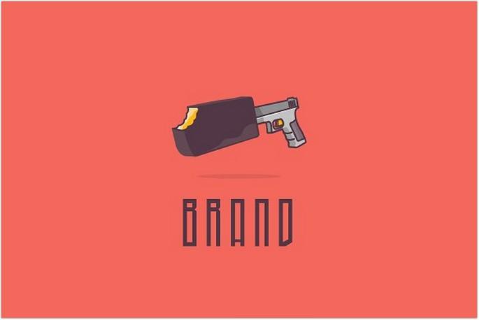 Choco Gun Logo Design