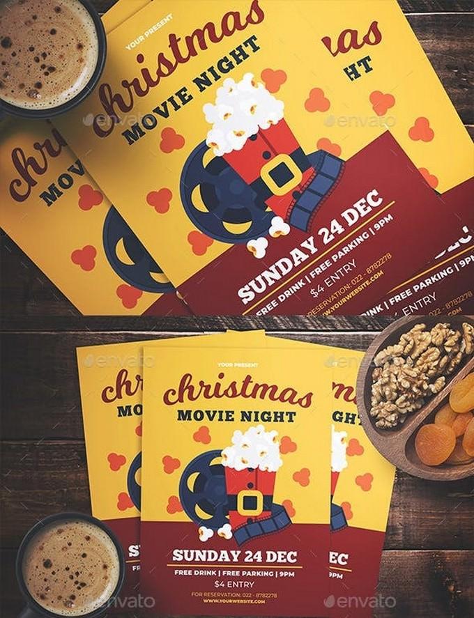 Christmas Movie Night Flyer