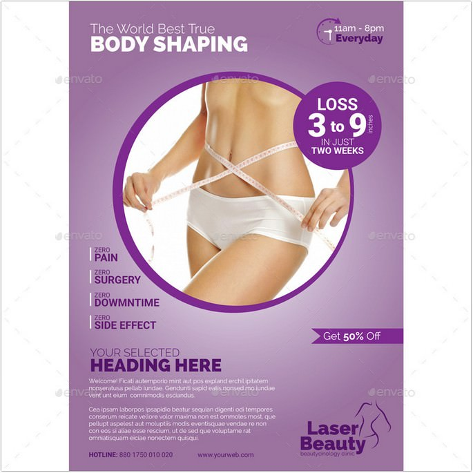 Clinical Body Shaping Flyer