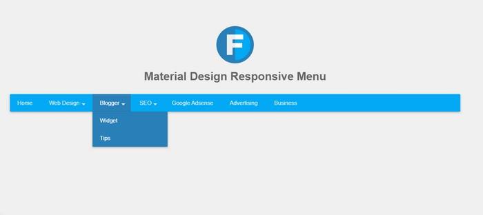 Material Design Responsive Menu