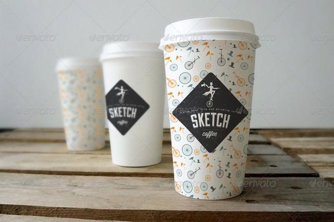 Coffee cup Branding Sketch