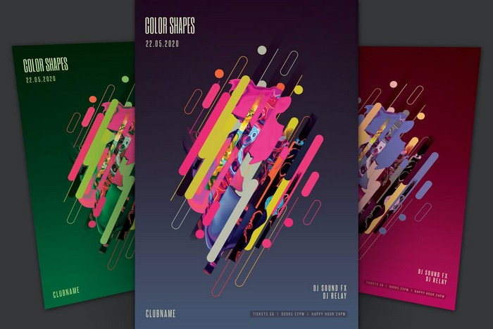 Color Shapes Flyer