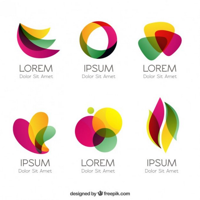Colorful Logos In Abstract Style