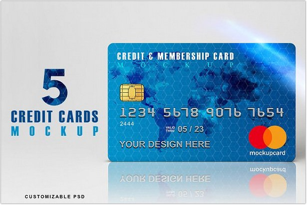 Bundle of 5 PSD Credit Card