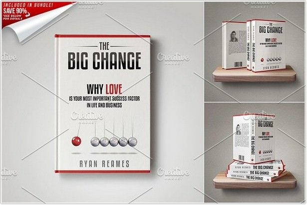 Customizable Book Cover Template 01