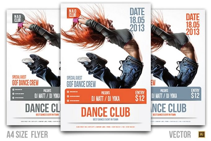 Dance Club Event Contest Flyer Template