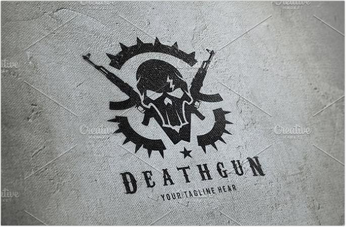 Death Gun Logo Design