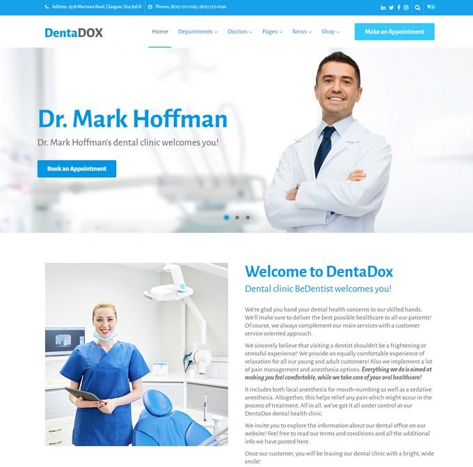 DentaDox - Denistry Clinic WordPress Theme