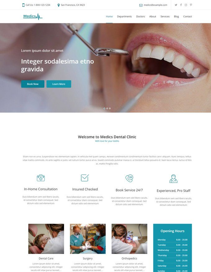 Dental WordPress Theme