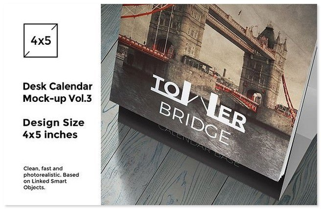 Desk Calendar Mock-Up