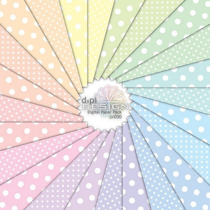 Digital Background Paper in Soft Pastel Colors