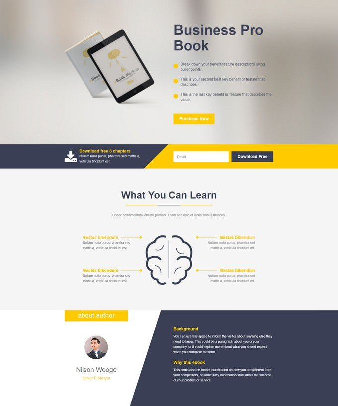 E- Marketing HTML Landing Page Templates