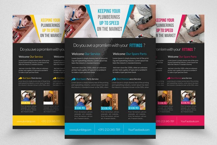 Easy Handyman & Plumber Services Flyer