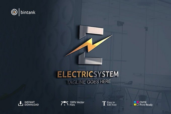 Electric System - Letter E Logo