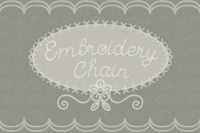 Embroidery Cursive Chainstitch