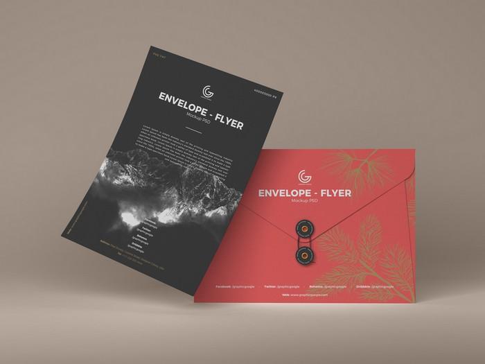 Envelope Flyer Mockup