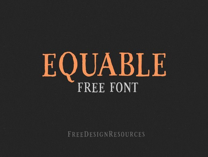 Equable Retro Font