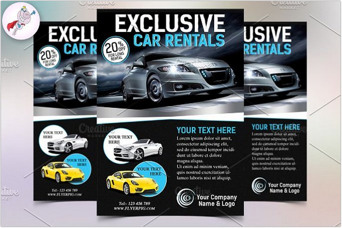 Exclusive Car Rental Flyer