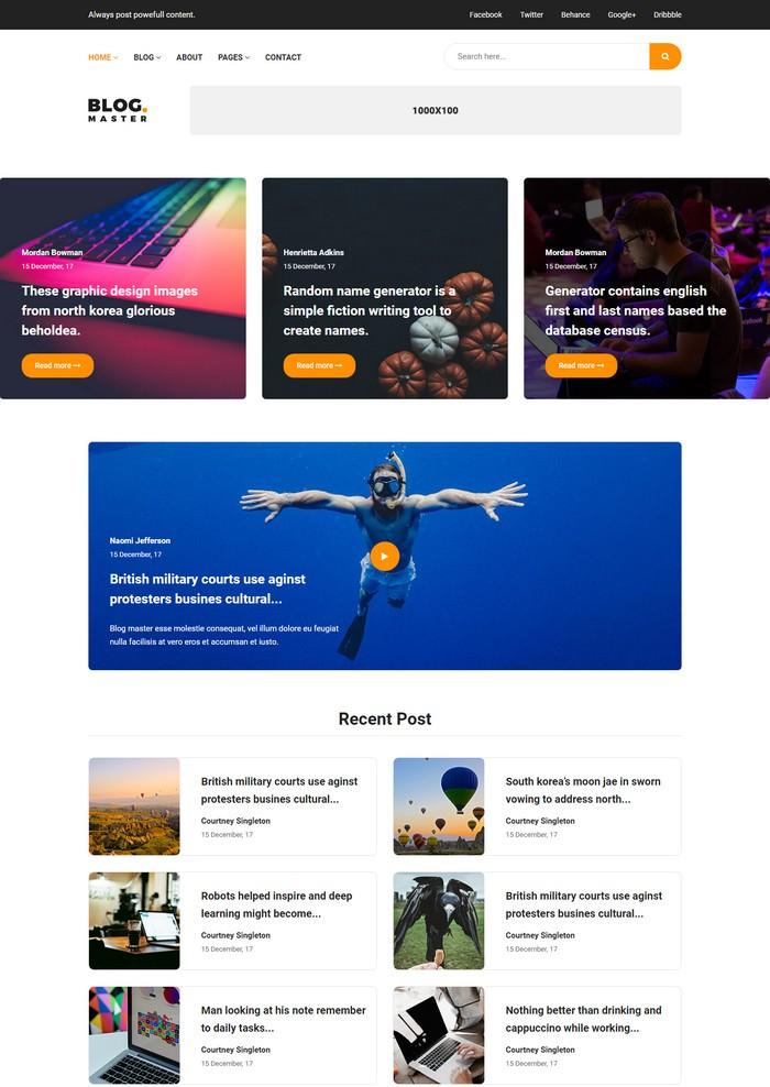 Fantech - Blog HTML Template