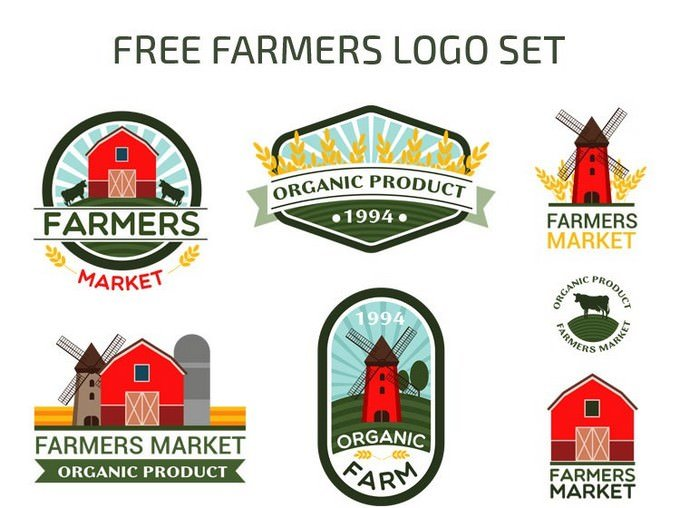 Farmers Vector Logo Set