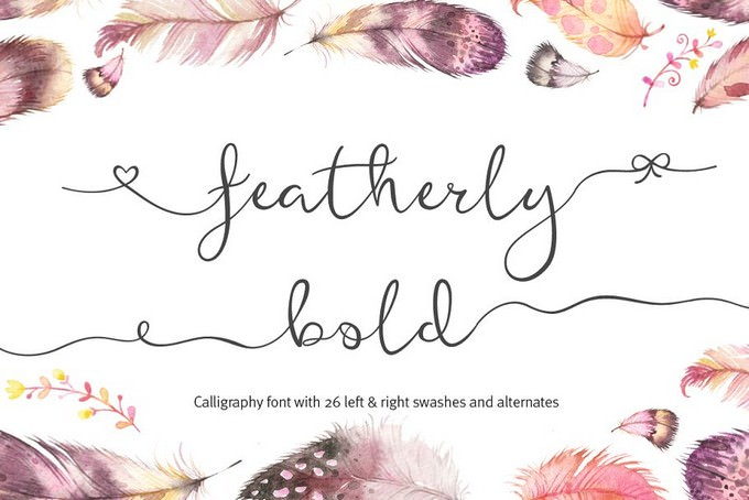 Featherly Wedding Swash Font