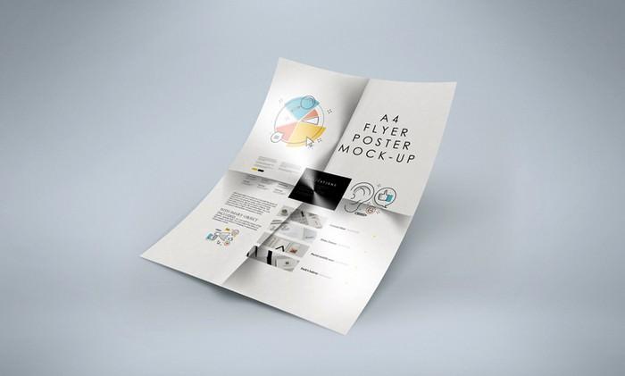 Folded A4 Flyer PSD