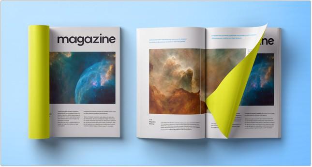 Folded Psd Magazine Mockup