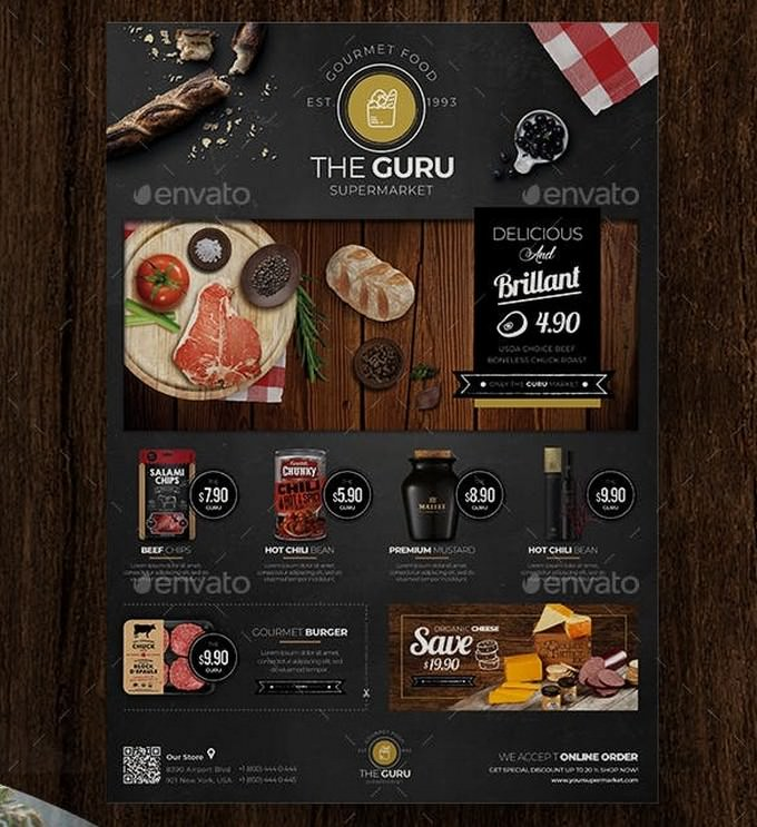 Food Market Product Flyer Template