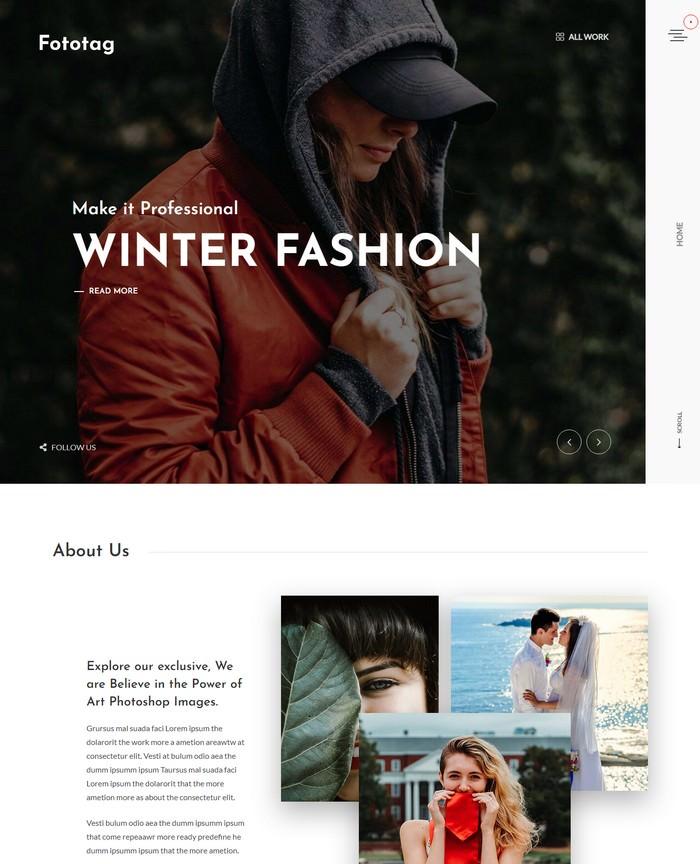 Fototag – Photography WordPress Theme