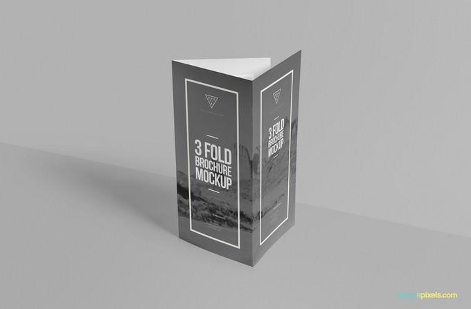 Free Elegant Tri Fold Brochure Mockup
