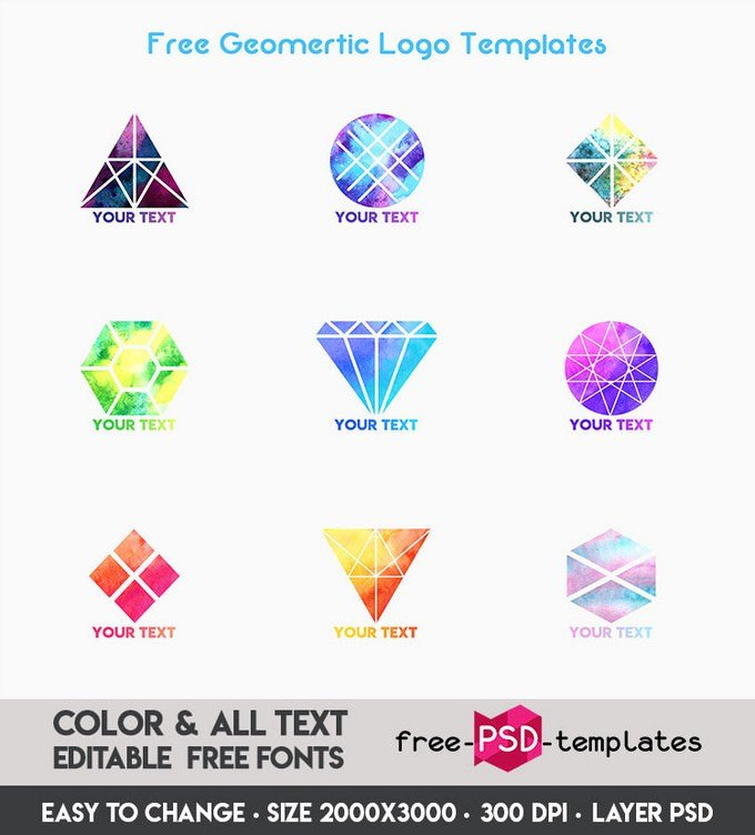 Free Geometric Logo Templates